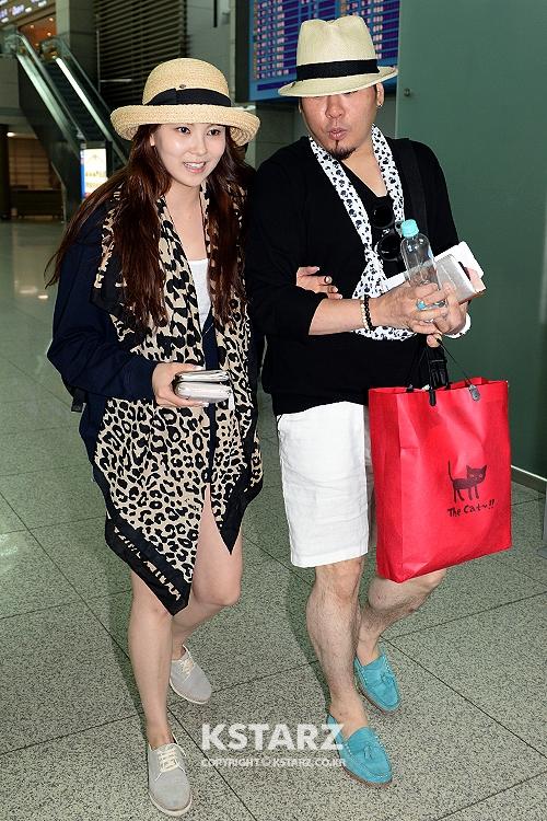 레이먼킴-김지우, 17일 오후 맥시코로 신혼여행차 인천국제공항을 통해 출국