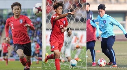 [사진]연합뉴스, 왼쪽부터 김진수, 이청용, 권경원