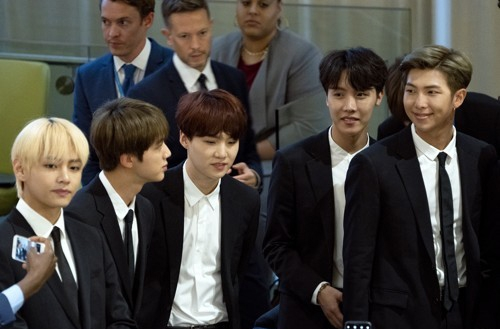 [사진]AP=연합뉴스,유엔무대 선 방탄소년단