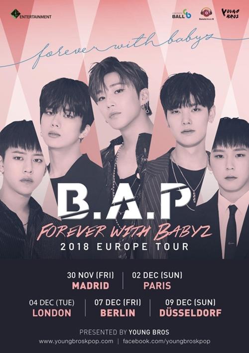 [사진]TS엔터테인먼트 제공, 그룹 B.A.P 유럽 투어 포스터