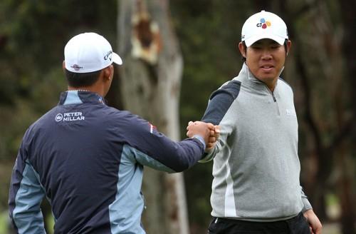 [사진]EPA=연합뉴스, 월드컵에 함께 나선 김시우와 안병훈