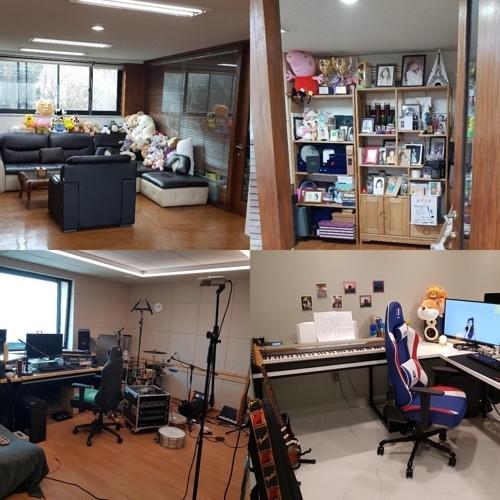 [사진]카카오엠 제공, 과천시 매입 건물 내부의 아이유 작업실