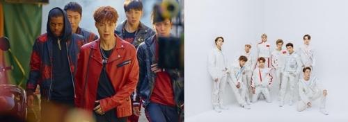 [사진]세븐식스나인엔터테인먼트, SM엔터테인먼트 제공, 엑소 레이와 그룹 NCT 127(오른쪽)