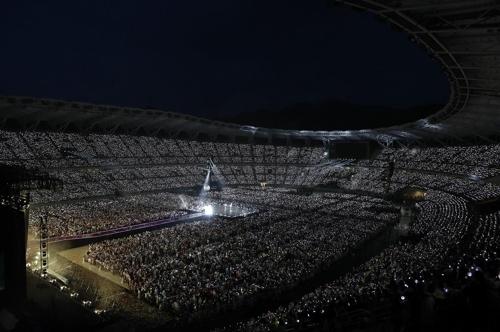 [사진]빅히트엔터테인먼트 제공, 방탄소년단 공연이 열린 일본 시즈오카 스타디움 전경