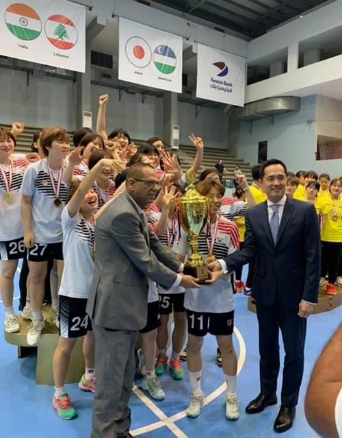 [사진]아시아 핸드볼연맹 소셜 미디어 사진 캡처, 한국 대표팀 시상식 장면