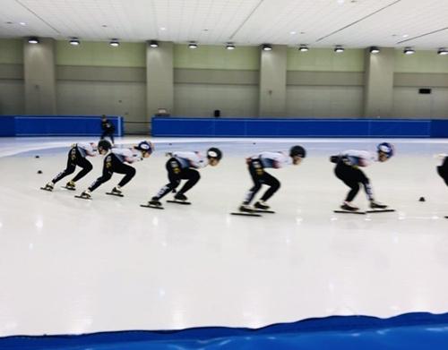 [사진]대한빙상경기연맹 제공, 훈련하는 쇼트트랙 대표팀 선수들