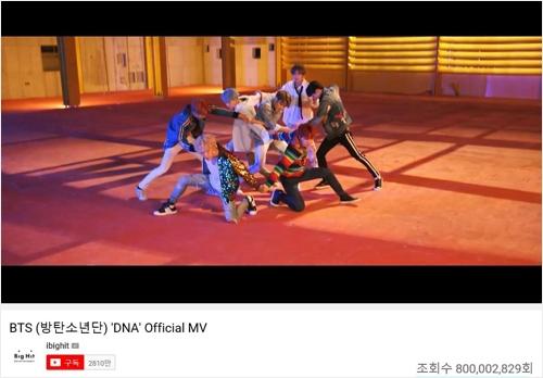[사진]유튜브 캡처=빅히트 엔터테인먼트, 방탄소년단 'DNA' 뮤직비디오 장면