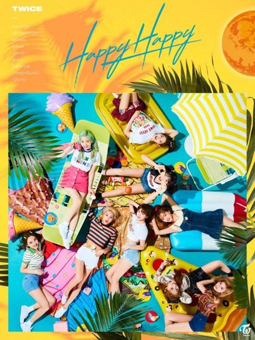 [사진]JYP엔터테인먼트 제공, 트와이스 일본 싱글 4집 '해피 해피' 커버