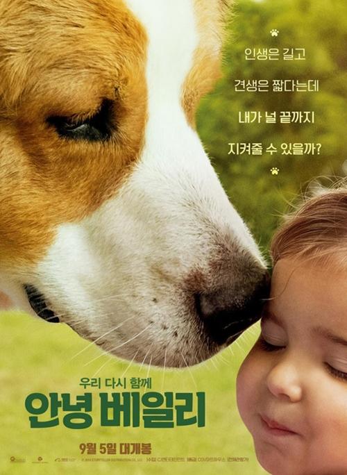 [사진]CJ엔터테인먼트 제공, 영화 '안녕 베일리' 포스터