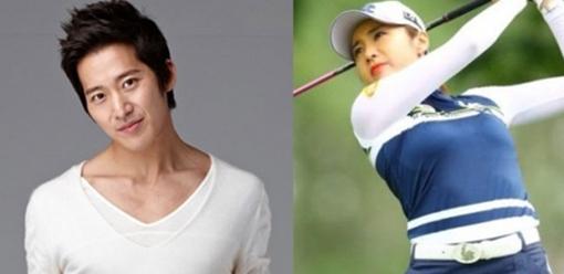 [사진]각 소속사 제공, 배우 이완(왼쪽)과 프로골퍼 이보미