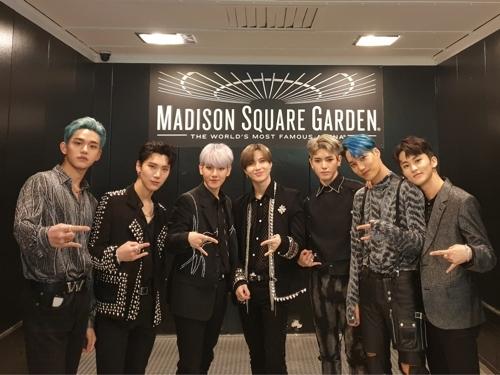 [사진]SM엔터테인먼트, 뉴욕 매디슨 스퀘어 가든에 선 슈퍼엠
