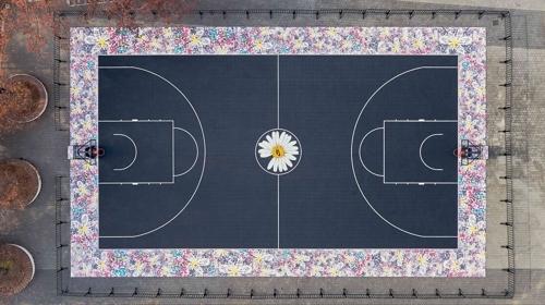 [사진]나이키코리아 제공, 지드래곤이 나이키와 함께 기부한 서울 송파구 올림픽 공원 내 농구 코트