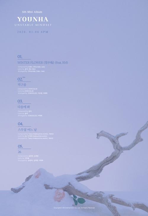 [사진]C9엔터테인먼트 제공, 윤하 신보 '언스테이블 마인드셋' 트랙리스트
