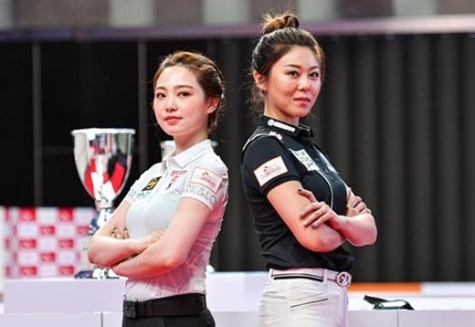 [사진]PBA 제공, 김가영(오른쪽)과 차유람